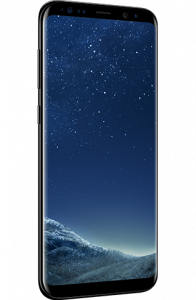Picture of the Samsung Galaxy S8 phone.