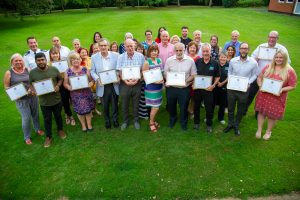 PFCC Stephen Mold with the winners of the July grant funding round