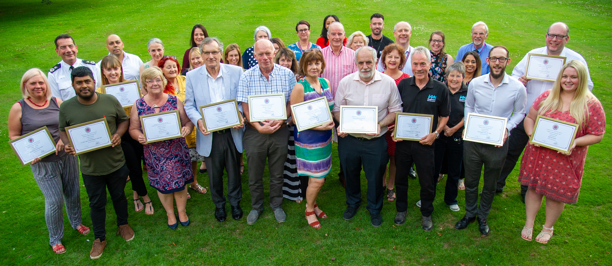 Groups receiving their grants from PFCC Stephen Mold