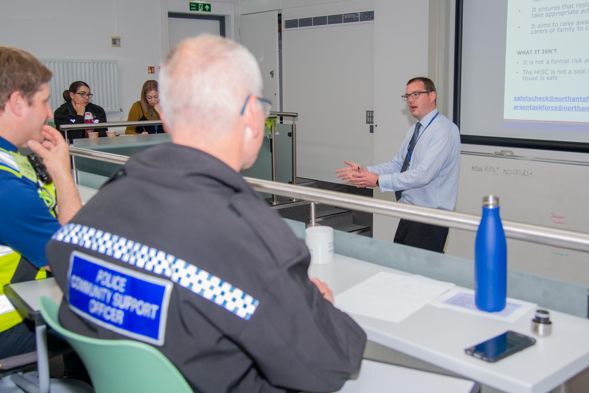Neighbourhood Policing Team receiving crime prevention training