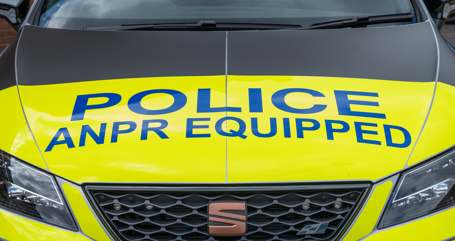 Police Interceptor vehicle equipped with ANPR